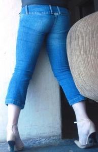 Jeans entallados sin bolsas