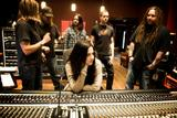 Evanescence-photo of the band in the recording studio HQ