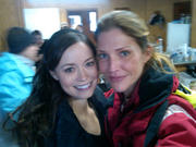 "Summer Glau (with Tricia Helfer) - On the Set of ""Scent of the Missing"" - 1 Pic"