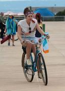 "Elizabeth Olsen on the Set of ""Very Good Girls"" at Coney Island 07/17/12"